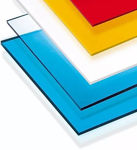 red yellow white blue polycarbonate sheets