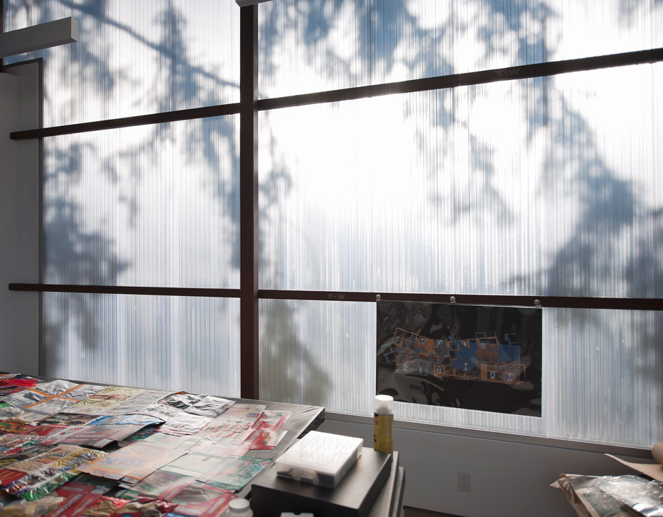 office inside very bright because of polycarbonate