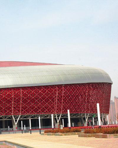 stadium made with polycarbonate